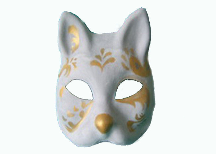 Recycled Pulp Moulded Products Cat Mask for Lady party Costume Accessories